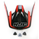 Red/Black MC-1 CS-MX Shattered Helmet Visor - 0970-6019-01