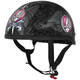 Womens Black/Pink Grateful Dead Flying Steal Your Face Half Helmet