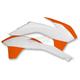 KTM White/Orange Radiator Shrouds - 2314251088