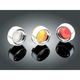 Deep Dish Bezels for Deuce Style Turn Signal w/Amber Lens - 2108