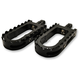 Black BMX/Beartrap Style Footpegs w/Black Teeth - LA-7205-01B