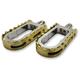 Chrome BMX/Beartrap Style Footpegs w/Brass Teeth - LA-7205-02