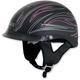 Flat Black w/Pink Pinstripe FX-200 Helmet