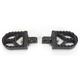 Hard Black Anodized Short Serrated Foot Pegs - 08-57-3B