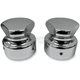 Chrome Front Tri-Sided Axle Caps - LA-7812-00