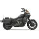 Black Short 2-1 Road Rage Exhaust System - 1FXRFB