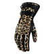 Womens Long Leopard Catwalk Gloves