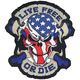 USA Live Free Skull Mini Embroidered Patch - MN32022