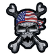 USA Skull Embroidered Patch - LT30092