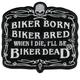 Biker Born Patch - PPA2072