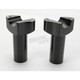 3 in. Black Straight Risers - 0602-0404