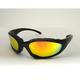 Black Performance C-22 Sunglasses w/Red RV Lens - C-22BK/RR