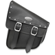Black RuffHyde Swingarm Storage Bag with Twin Buckles and Accent Studs - 947RVT-C