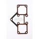 Shovelhead Rocker Cover Gasket (metal w/silicone) - 17540-99-X