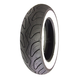Front and Rear Prima 100/90-10 Wide Whitewall Scooter Tire - 0600-0057