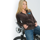 Womens Plush Velour Hoody