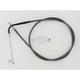 Black Pearl Designer Series Alternative Length Braided Throttle Cables for Custom Handlebars - 43216