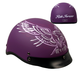Woman's Matte Purple Upwing Half Helmet