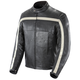 Black/Ivory Old School Leather Jacket