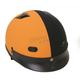 Black/Orange Vented Shorty Half Helmet