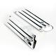 Chrome Saddlebag Latch Covers - 0200-2003-CH