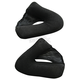 Black w/White Snaps Cheek Pad Set for HJC Helmets