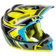 Blue/Yellow/Black F4 Legacy Voltage Helmet