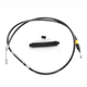 Black Vinyl Coated Clutch Cable for Use w/18 in. to 20 in. Ape Hangers - LA-8005C19B