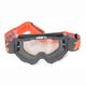 Gray/Orange OTG Gunmetal Goggles w/Clear Lens - 50204-025-02