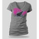 Womens Heather Gray Abstract Wings T-Shirt