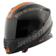 Matte Black/Orange Cruise Missile SS1600 Helmet