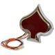 Chrome Spade Taillight - 2010-1198