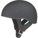 Flat Black GM65 Naked Half Helmet