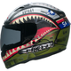 Matte Green/Red/Blue Qualifier DLX Devil May Care Helmet