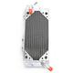 Left X-Braced Aluminum Radiator - MMDBKX450F10LX