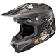 Black/Gray/White MC-5F CL-X7 El Lobo Helmet