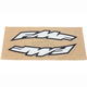 Small Arch FMF Logo Fender Sticker - 010604