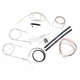 Stainless Braided Handlebar Cable and Brake Line Kit for Use w/15 in. - 17 in. Ape Hangers (w/o ABS) - LA-8310KT2-16