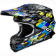 Black/Yellow/Blue VFX-W Krack TC-11 Helmet