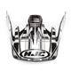 Black/Silver/White CS-MX Stagger Helmet Visor - 312-959