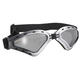 Black/Silver Airfoil Goggles w/Silver Mirrored Lens - 9110