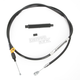 Black Vinyl Coated Clutch Cable for Use w/15 in. to 17 in. Ape Hangers - LA-8220C16B