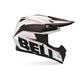 Black/White Moto-9 Carbon Emblem Helmet