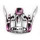 Black/Pink/White CS-MX Stagger Helmet Visor - 0970-6017-08