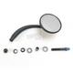 Black Left Round Mirror - RWD-50104