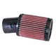 Universal Round/Straight Clamp-On Air Filter w/Angled Flange - 3 1/2 in. Diameter x 5 in. L - RU-1780