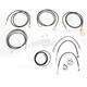 Black Vinyl Handlebar Cable and Brake Line Kit for Use w/12 in. - 14 in. Ape Hangers - LA-8052KT2-13B
