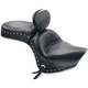 Studded Wide Touring Seat with Driver Backrest - 79416