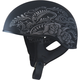 Flat Black/Silver GM65 Naked Rose Half Helmet