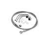 Front Clear-Coated Braided Stainless Steel Brake Line Kits - 1204-2740